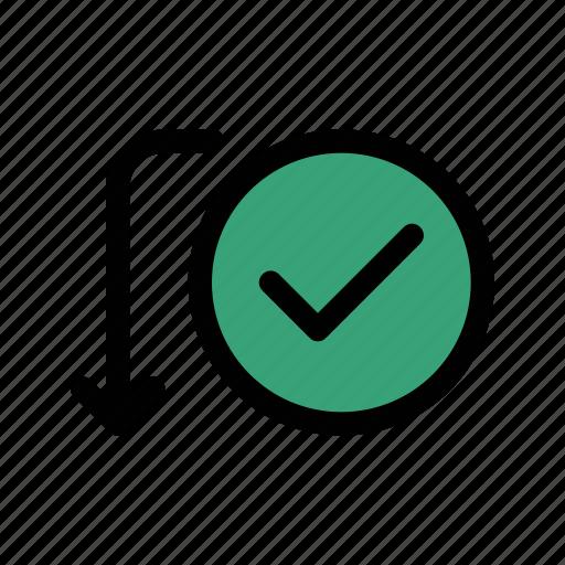 activity, approve, send, success, transaction, transfer, verify icon