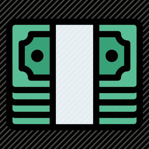 bank, bundle, cash, money, note, transaction, transfer icon