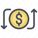 activity, bank, payment, receive, send, transaction, transfer icon
