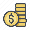 activity, bank, cash, coin, money, payment, transaction icon