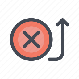bank, cancel, fail, payment, receive, transaction, transfer icon