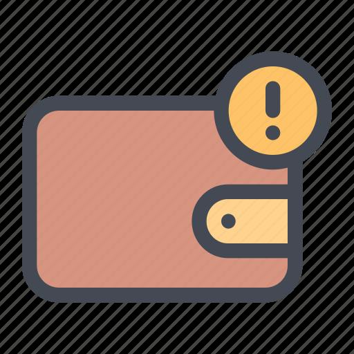 activity, balance, error, law, notice, transaction, wallet icon