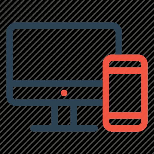 bank, device, laptop, mobile, transaction, transfer icon