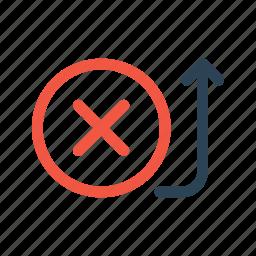 activity, bank, cancel, fail, payment, send, transaction icon