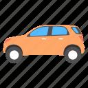 car, economy car, hatchback, modern car, transport icon