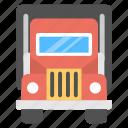 fridge van, refrigerator truck, refrigerator van, refrigerator vehicle, van for food preserving icon