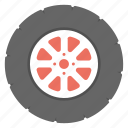 circular component, drive, transport wheel, transportation, wheel icon