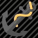 anchor, nautical, ocean, ship, travel icon