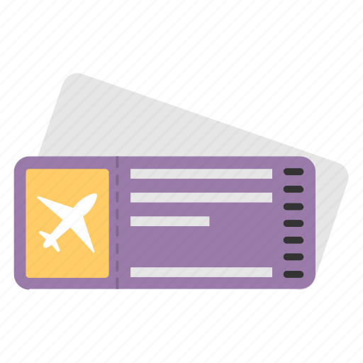 air tickets, airplane ticket, boarding pass, flight ticket, travel ticket icon