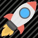 cartoon rocket, missile, rocket, spaceship icon