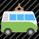 camper, campervan, caravanette, minibus, transport icon