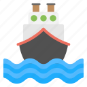 cruise, merchant ship, ship, travel, watercraft icon