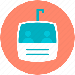 aerial lift, cable car, chairlift, ropeway, ski lift icon