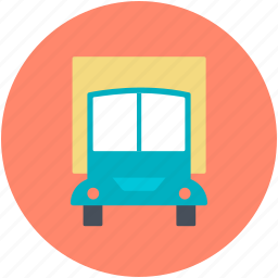 cargo truck, delivery truck, freight, hatchback, logistic delivery icon