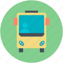 bus, public bus, public transport, public vehicle, tour bus icon