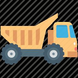 construction truck, dump truck, dumper, transport, vehicle icon