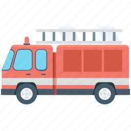 fire engine, fire truck, rescue truck, transport, vehicle icon