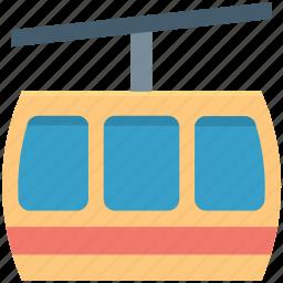 aerial lift, chairlift, detachable, ropeway, ski lift icon