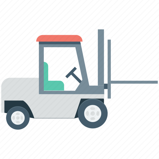 fork truck, forklift, forklift truck, lift truck, vehicle icon