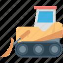 bulldozer, cat bulldozer, heavy machinery, excavator, crawler