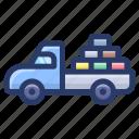 cargo van, trailer, transport, truck loader, vehicle icon