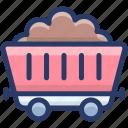 construction cart, garden wheelbarrow, mud cart, mud mulch, wheelbarrow icon