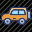 automobile, car, conveyance, four wheeler car, jeep, transport, vehicle icon