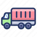 automobile, cargo van, delivery truck, loader truck, logistics, transport, vehicle icon