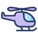chopper, conveyance, copter, heli, helicopter icon