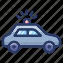 autonomous car, cop car, police car, police vehicle, political car icon