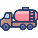 fuel tank, gas tank, oil tanker, oil trailer, petrol tank, storage tank icon