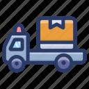 automobile, cargo van, conveyance, delivery truck, logistics, transport, vehicle icon