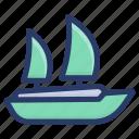 boat, marine, sailboat, ship, transport, travel, yacht icon