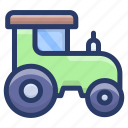 agriculture machinery, agriculture tractor, farming vehicle, tractor, wheeled tractor icon
