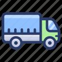 automobile, cargo truck, cargo van, logistics services, transport, vehicle icon