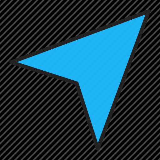 arrow, direction, gps, navigator icon