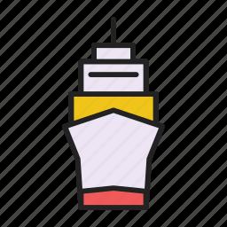 cargo, cargo ship, container, ship icon