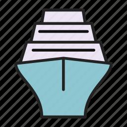 cruise, ship, travel, vacation icon