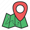 direction, location, map, navigation, plan icon