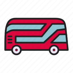bus, london, london bus, transport icon