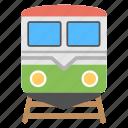 retro train, train, train on track, transport, traveling icon