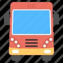bus, city bus, omnibus, tour bus, travel icon