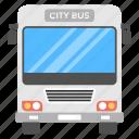 bus, city bus, omnibus, passenger bus, passenger-carrying vehicle, tour bus icon