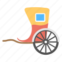 handcart, horse carriage, horse cart, mini horse cart, old fashioned cart icon