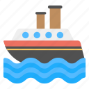 cargo ship, logistic ship, shipment, shipping, watercraft icon
