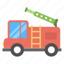 fire apparatus, fire brigade truck, fire brigade vehicle, fire engine, fire service vehicle icon