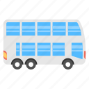 bus, double decker, london bus, omnibus, passenger bus icon
