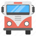 bus, omnibus, tour bus, transport, traveling icon