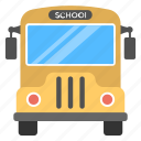bus, school bus, school transport, school vehicle, traveling icon