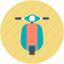 motorbike, motorcycle, retro motorcycle, vespa scooter, vintage vespa icon